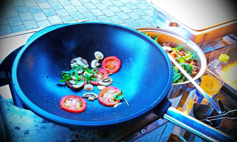 Frisches Gemüse in Wok
